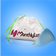 MenstrualCup - MonthlyCup - Sapphire - Size Mini - Bag and Cup